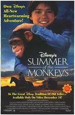 Summer of the Monkeys Original Video Release Poster 26x40 NEW 1998