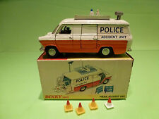 DINKY TOYS 287 FORD TRANSIT VAN - POLICE ACCIDENT UNIT - RARE - EXCELLENT IN BOX
