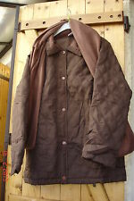 manteau doudoune marron taille 38/40 pour l'hiver avc écharpe assortie