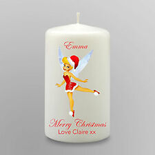 Personalised Tinkerbell Candle Christmas Stocking Filler Gift Secret Santa Large