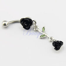 JW726 Barbell Belly Bar Ring Button Navel Body Piercing Jewelry Unique Dance TW