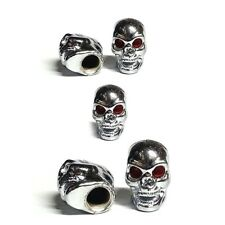 5 Chrome Evil Skull Tire Air Valve Stem Caps Car Truck Hotrod ATV w/ Spare Wheel
