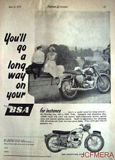 1957 Motor Cycle ADVERT - B.S.A. '500cc Shooting Star OHV Twin' Print AD #2