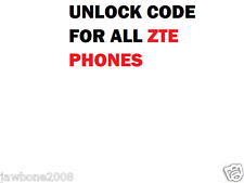 ALL NETWORKS FACTORY UNLOCK CODE SERVICE FOR MOST ZTE PHONE ZTE QUICK SERVICE