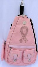WS Small Backpack Tennis Laptop Sport Travel School Breast Cancer 20x13 B130