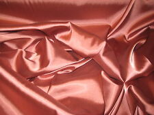 "TERRA COTTA STRETCH CHARMEUSE SATIN FABRIC BY THE YARD 56"" WIDE"
