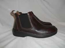 Josef Seibel Brown Leather Womens Ankle Boots Low Heel Sz 38 US 7.5 Air Massage