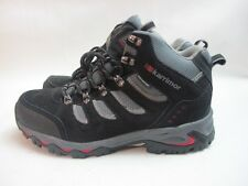 Mens Karrimor Mount Mid Walking Hiking Black Red Boots UK 8 EU 42