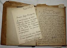 Sophie CHEVREUL CHAMP PETITE FILLE PHYSICIEN LAS à MONTORGUEIL + MANUSCRIT, 1913