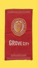 1910s S25 tobacco / cigarette / college silk  GROVE CITY COLLEGE - NICE!!