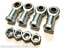 *4 Pack M5 FEMALE KART TRACK ROD ENDS - ROSE JOINTS + LOCK NUTS