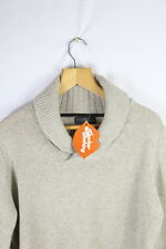 Mens ZARA Jumper (BASIC SPORT ELBOW PATCHWORKS) Medium KNIT Sweater CRACKING P31