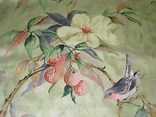 """~BTY~HERITAGE HOUSE~""""FLOWER SONG"""" BIRDS~DRAPERY UPHOLSTERY FABRIC FOR LESS~"""