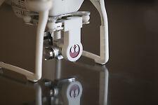 DJI Phantom 3 (Pro & Adv) - STARWARS Rebel Logo - 1 WHITE Gimbal Lock & Lens Cap