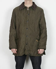 """BARBOUR Eskdale Quilted Jacket coat Large 42"""" 44"""" Approx Green Brown D3H"""