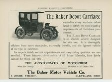 1906 Baker Motor Vehcile Ad Electric Depot Carriage Cleveland Ohio OH Car