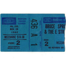 BRUCE SPRINGSTEEN Concert Ticket Stub MADISON SQUARE GARDEN 11/28/80 NEW YORK NY