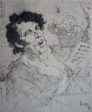 VIERGE DANIEL (1851-1904): Eau forte originale. Une fausse note, L'art et les ar