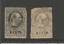 Austria  1873  25kr. 50kr.  Funfundzwanzig Kreuzer  Telegraphen Telegraph Stamps