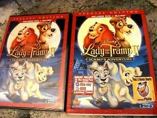 Lady and The Tramp II ,Disney (DVD+Blu-ray, 2012,2-Disc) NEW:SlipCover Rare OOP