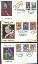 VATICAN 1960s COLLECTION OF 9 DIFFERENT FDCs