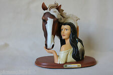 Bradford Kindred Spirits Horse Native American Indian Woman Sculpture Figure