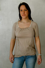 top beige coton stretch HIGH USE taille M  NEUF ÉTIQUETTE * TOP LUXE * val 220€