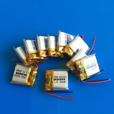 10pcs 180mAh LiPo 602020 Rechargeable Battery 3.7V for Headset Bluetooth MP3 MP4