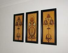 GLASGOW ARTS & CRAFTS SHAPLAND & PETTER ? INLAID WOODEN TRIPTYCH WALL HANGING