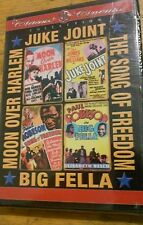 Moon Over Harlem/Juke Joint/Song of Freedom/Big Fella  2-DVD Set (DVD, 2004) NEW