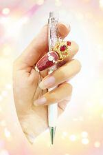 Luxus Nagelring Fingerspitzenring Diva Look mit Strass Krone Rot  X-08