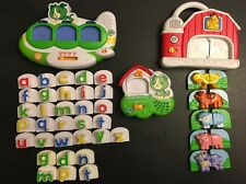 Leap Frog Fridge Phonics Word Whammer Airplane Letters Alphabet Dog & Farm Lot