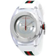 Gucci Sync Silver Dial Silicone Strap Unisex Watch YA137102
