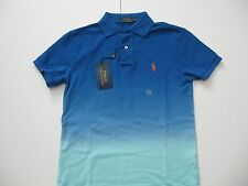 POLO RALPH LAUREN Men's Custom Fit Dip-Dyed Ombré Polo Shirt XS