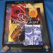 January 1 2004 Rose Bowl 90th Game Program USC Trojans vs. Michigan Wolverines