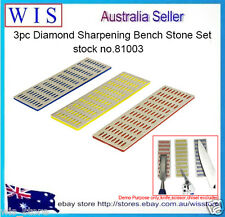 "3pcs 6"" x 2"" Diamond Sharpening Bench Stone Set,Diamond-coated Whetstone-81003"