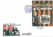 FOOTBALL - MOZAMBIQUE - 2011 SOUVENIR Sheet FDC Cover : MILAN - Berlusconi