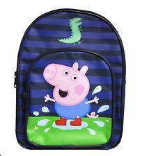 Peppa Pig George Dino 'Pozzanghera' Zaino,borsa Per La Scuola Zaino Nuovo Regalo