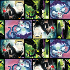 Disney Villans Patch Movie Art 100% Cotton Fabric by the Yard PRE-ORDER