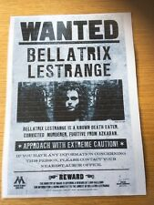Harry Potter Inspired Laminated Wanted Poster Bellatrix Lestrange