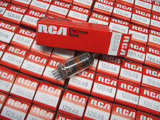 NOS 12BA6 Vacuum Tubes - RCA - BRAZIL - (All American Five, AA5, Black Plates)