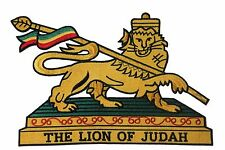 Ethiopia The Lion Of Judah Embroidered Iron-On Patch Crest Badge.Xx-Large