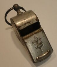 Vintage Boy Scouts Of America Official Brass Whistle With Wood Ball