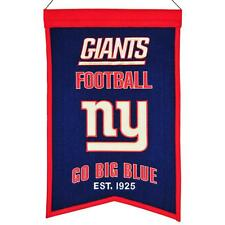 "New York Giants Official NFL 14"" x 22"" Franchise Banner Flag NY Winning Streak"