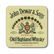 Whisky label coaster John Dewar & sons