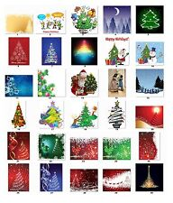 30 Personalized Return Address Christmas Trees Labels Buy 3 get 1 free (cs6)