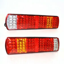 24v Led Rear Tail Brake Fog Indicator Lights Lamps Lorry Truck Trailer Chassis