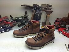 DISTRESSED NORTH FACE BROWN LEATHER LACE UP  TRAIL BOSS HIKING ANKLE BOOTS 10 D