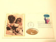 1971 Care First Day Cover with post marked stamp and elongated penny