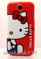 for Samsung galaxy S4 cute hello kitty phone case cover white blue red bow cat